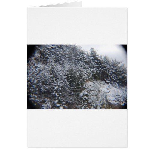 Árboles Nevado Tarjeta De Felicitación