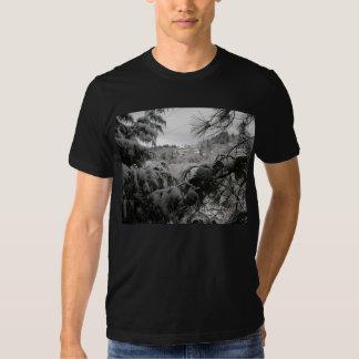 Árboles nevados camisas