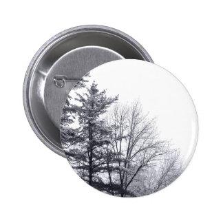 Árboles nevados: Horizontal Pin Redondo De 2 Pulgadas