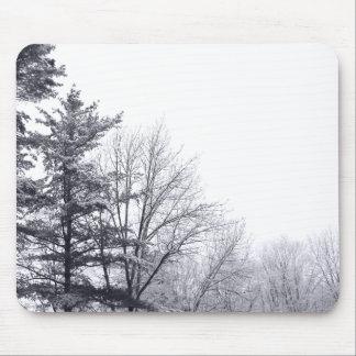 Árboles nevados: Horizontal Alfombrillas De Raton