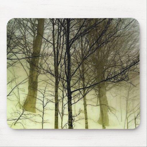 Árboles nevados mouse pad