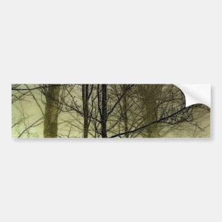 Árboles nevados pegatina para auto