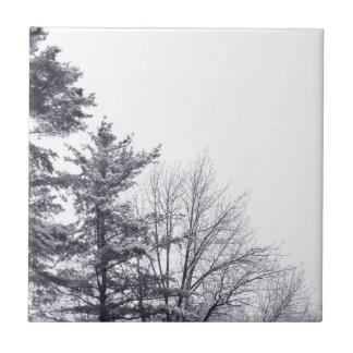 Árboles nevados Vertical Azulejos