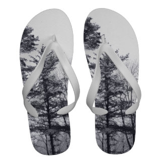 Árboles nevados Vertical Sandalias De Playa