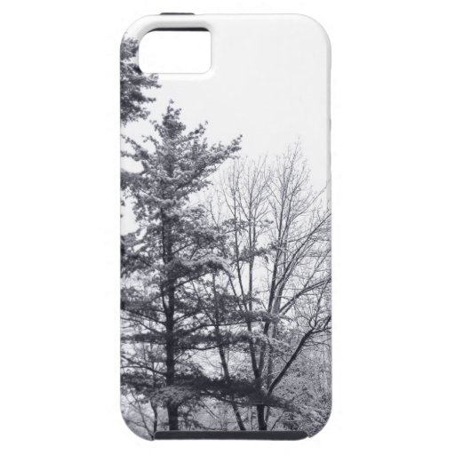 Árboles nevados: Vertical iPhone 5 Fundas