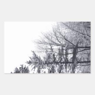Árboles nevados: Vertical Rectangular Altavoz