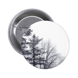 Árboles nevados: Vertical Pin Redondo De 2 Pulgadas