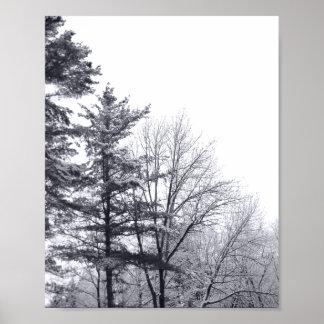 Árboles nevados: Vertical Póster