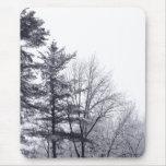 Árboles nevados: Vertical Tapete De Raton