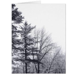 Árboles nevados Vertical Tarjetas