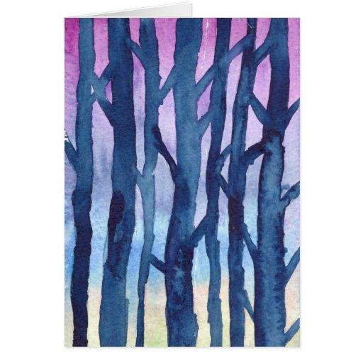 Árboles Notecard del invierno