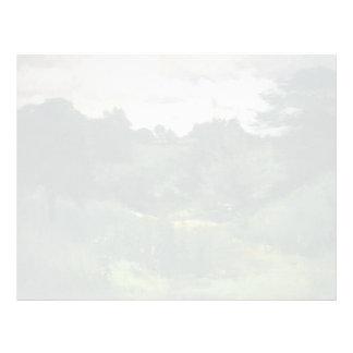 Árboles oscuros de John Henry Twachtman-, Cincinna Plantillas De Membrete