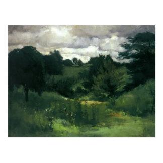 Árboles oscuros de John Henry Twachtman-, Cincinna Tarjeta Postal