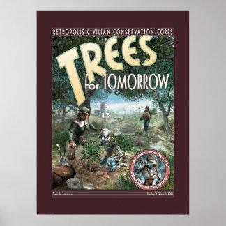"""Árboles para el poster de la mañana (18x24"""")"""