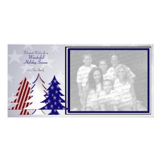 Árboles patrióticos tarjetas personales con fotos