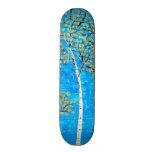 árboles pintados patin personalizado