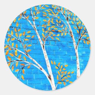 árboles pintados etiquetas