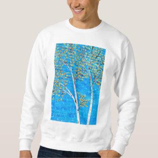 árboles pintados sudadera