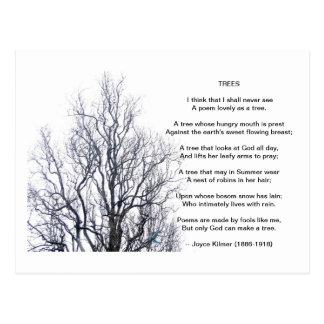 Árboles, por Joyce Kilmer Postal