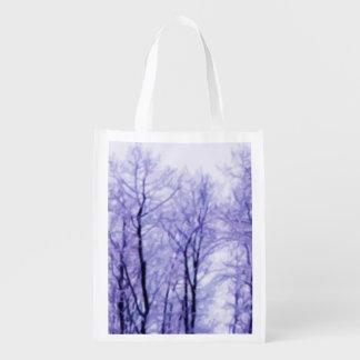 Árboles púrpuras del invierno bolsa para la compra