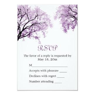 """Árboles púrpuras en colores pastel - tarjeta de invitación 3.5"""" x 5"""""""