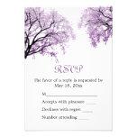 Árboles púrpuras en colores pastel - tarjeta de RS Anuncio Personalizado