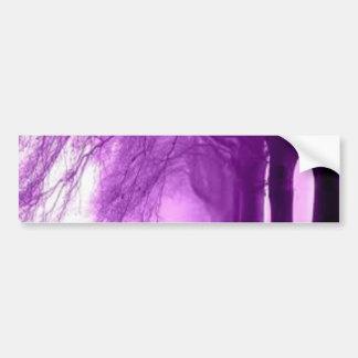 árboles púrpuras pegatina de parachoque