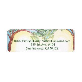 Árboles que crecen junto, rabino Me'irah Iliinsky… Etiquetas De Remite