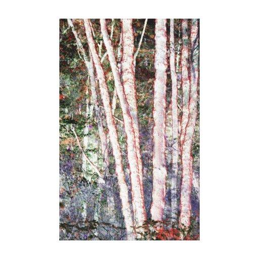 Árboles Rojo-Afilados Lona Estirada Galerias