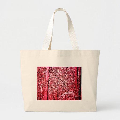 Árboles rojos bolsa de mano