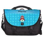 Árboles rojos conocidos personalizados del azul de bolsas para portatil