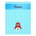 Árboles rojos conocidos personalizados del azul de tarjetas publicitarias