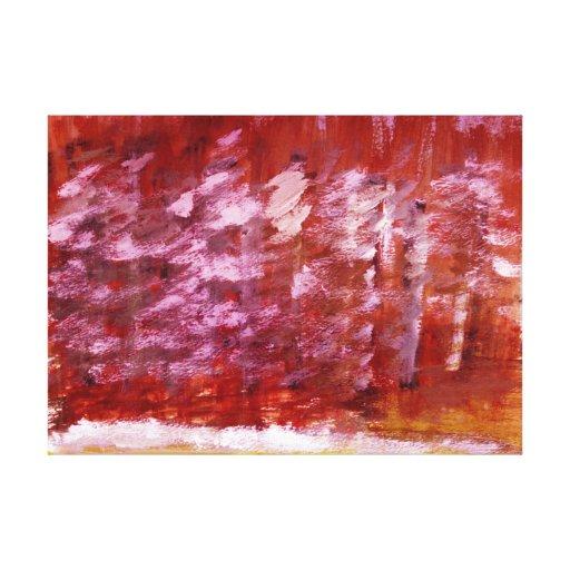 """""""Árboles rojos """" Impresión En Lona Estirada"""