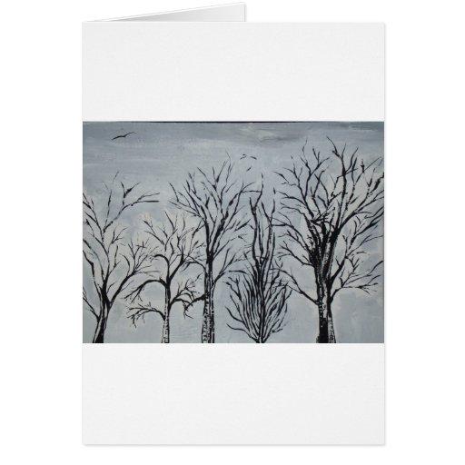 Árboles silenciosos tarjetas
