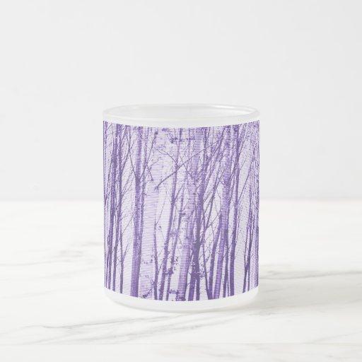 árboles taza de cristal