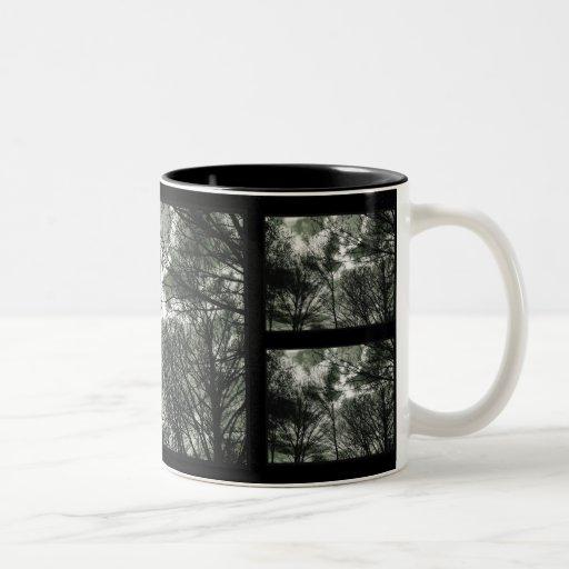 Árboles, taza del mosaico el  