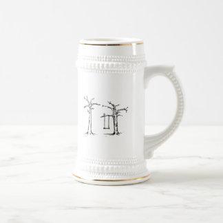 Árboles tristes taza de café