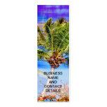 Árboles tropicales y cielo azul tarjetas de visita
