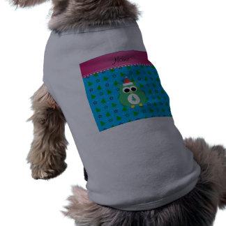 Árboles verdes conocidos personalizados del azul camiseta de perro