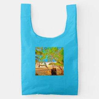 Árboles y agua bolsa reutilizable