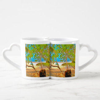 Árboles y agua set de tazas de café