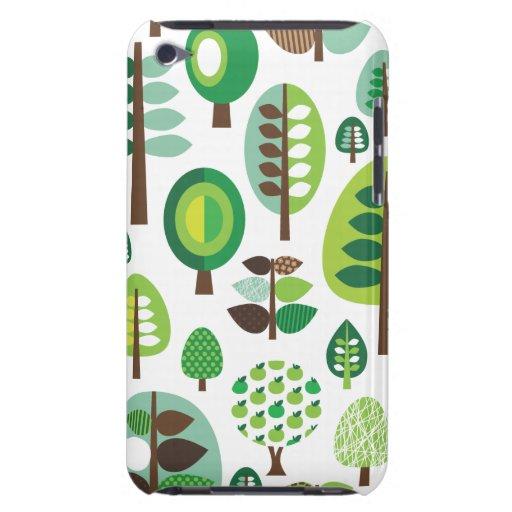 Árboles y caja retros verdes de iPod de las planta iPod Touch Protector