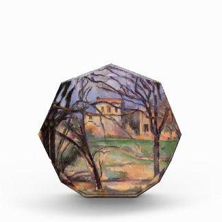 Árboles y casas de Paul Cezanne-