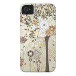 Árboles y caso caprichosos del iphone 4 de las flo iPhone 4 Case-Mate protectores