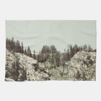 Árboles y colinas toallas
