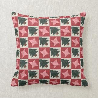 Árboles y estrellas acolchados de pino almohadas