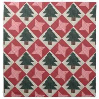 Árboles y estrellas acolchados de pino servilleta de papel