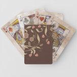 Árboles y flores caprichosos barajas de cartas