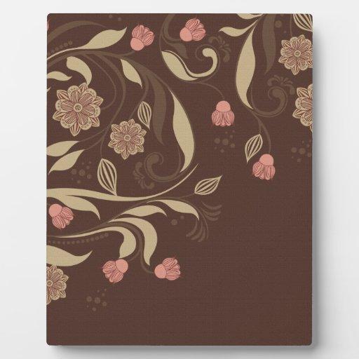 Árboles y flores caprichosos placas de madera