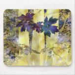 Árboles y hojas abstractos Mousepad Alfombrilla De Raton